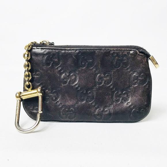 Gucci Brown Guccissima Leather Key Pouch